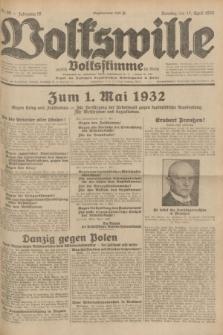 Volkswille : zugleich Volksstimme für Bielitz : Organ der Deutschen Sozialistischen Arbeitspartei in Polen. Jg.18, Nr. 89 (17 April 1932) + dod.
