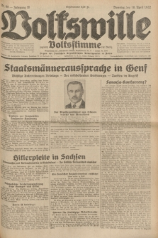 Volkswille : zugleich Volksstimme für Bielitz : Organ der Deutschen Sozialistischen Arbeitspartei in Polen. Jg.18, Nr. 90 (19 April 1932) + dod.