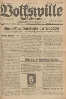 Volkswille : zugleich Volksstimme für Bielitz : Organ der Deutschen Sozialistischen Arbeitspartei in Polen. Jg.18, Nr. 91 (20 April 1932) + dod.