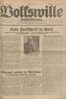Volkswille : zugleich Volksstimme für Bielitz : Organ der Deutschen Sozialistischen Arbeitspartei in Polen. Jg.18, Nr. 95 (24 April 1932) + dod.