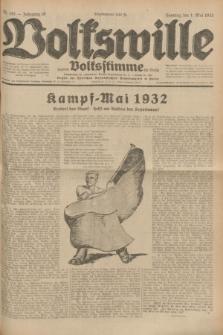 Volkswille : zugleich Volksstimme für Bielitz : Organ der Deutschen Sozialistischen Arbeitspartei in Polen. Jg.18, Nr. 101 (1 Mai 1932) + dod.