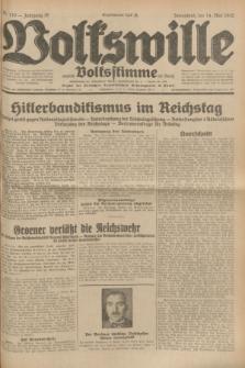 Volkswille : zugleich Volksstimme für Bielitz : Organ der Deutschen Sozialistischen Arbeitspartei in Polen. Jg.18, Nr. 110 (14 Mai 1932) + dod.