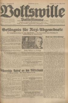 Volkswille : zugleich Volksstimme für Bielitz : Organ der Deutschen Sozialistischen Arbeitspartei in Polen. Jg.18, Nr. 111 (15 Mai 1932) + dod.