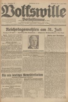 Volkswille : zugleich Volksstimme für Bielitz : Organ der Deutschen Sozialistischen Arbeitspartei in Polen. Jg.18, Nr. 129 (8 Juni 1932) + dod.