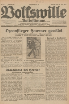 Volkswille : zugleich Volksstimme für Bielitz : Organ der Deutschen Sozialistischen Arbeitspartei in Polen. Jg.18, Nr. 134 (14 Juni 1932) + dod.