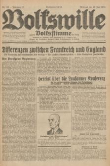 Volkswille : zugleich Volksstimme für Bielitz : Organ der Deutschen Sozialistischen Arbeitspartei in Polen. Jg.18, Nr. 141 (22 Juni 1932) + dod.
