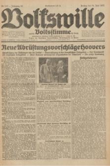 Volkswille : zugleich Volksstimme für Bielitz : Organ der Deutschen Sozialistischen Arbeitspartei in Polen. Jg.18, Nr. 143 (24 Juni 1932) + dod.