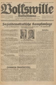 Volkswille : zugleich Volksstimme für Bielitz : Organ der Deutschen Sozialistischen Arbeitspartei in Polen. z Jg.18, Nr. 147 (29 Juni 1932) + dod.