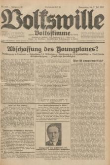 Volkswille : zugleich Volksstimme für Bielitz : Organ der Deutschen Sozialistischen Arbeitspartei in Polen. Jg.18, Nr. 153 (7 Juli 1932) + dod.