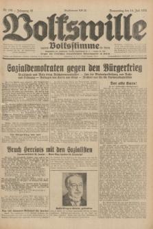 Volkswille : zugleich Volksstimme für Bielitz : Organ der Deutschen Sozialistischen Arbeitspartei in Polen. Jg.18, Nr. 159 (14 Juli 1932) + dod.