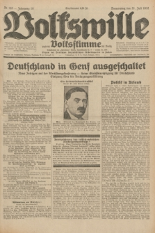 Volkswille : zugleich Volksstimme für Bielitz : Organ der Deutschen Sozialistischen Arbeitspartei in Polen. Jg.18, Nr. 165 (21 Juli 1932) + dod.
