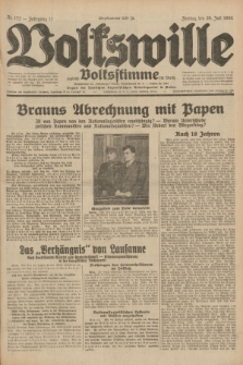 Volkswille : zugleich Volksstimme für Bielitz : Organ der Deutschen Sozialistischen Arbeitspartei in Polen. Jg.18, Nr. 172 (29 Juli 1932) + dod.