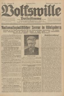 Volkswille : zugleich Volksstimme für Bielitz : Organ der Deutschen Sozialistischen Arbeitspartei in Polen. Jg.18, Nr. 176 (3 August 1932) + dod.