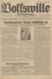 Volkswille : zugleich Volksstimme für Bielitz : Organ der Deutschen Sozialistischen Arbeitspartei in Polen. Jg.18, Nr. 179 (6 August 1932) + dod.
