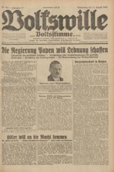 Volkswille : zugleich Volksstimme für Bielitz : Organ der Deutschen Sozialistischen Arbeitspartei in Polen. Jg.18, Nr. 183 (11 August 1932) + dod.