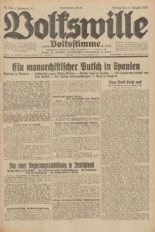 Volkswille : zugleich Volksstimme für Bielitz : Organ der Deutschen Sozialistischen Arbeitspartei in Polen. Jg.18, Nr. 184 (12 August 1932) + dod.