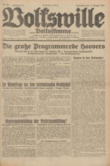 Volkswille : zugleich Volksstimme für Bielitz : Organ der Deutschen Sozialistischen Arbeitspartei in Polen. Jg.18, Nr. 185 (13 August 1932) + dod.