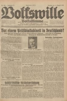 Volkswille : zugleich Volksstimme für Bielitz : Organ der Deutschen Sozialistischen Arbeitspartei in Polen. Jg.18, Nr. 186 (14 August 1932) + dod.
