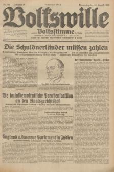 Volkswille : zugleich Volksstimme für Bielitz : Organ der Deutschen Sozialistischen Arbeitspartei in Polen. Jg.18, Nr. 188 (18 August 1932) + dod.