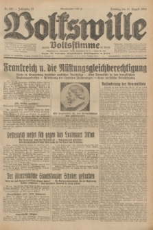 Volkswille : zugleich Volksstimme für Bielitz : Organ der Deutschen Sozialistischen Arbeitspartei in Polen. Jg.18, Nr. 191 (21 August 1932) + dod.