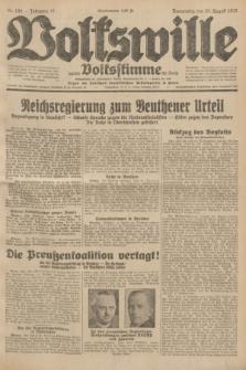 Volkswille : zugleich Volksstimme für Bielitz : Organ der Deutschen Sozialistischen Arbeitspartei in Polen. Jg.18, Nr. 194 (25 August 1932) + dod.