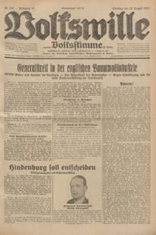 Volkswille : zugleich Volksstimme für Bielitz : Organ der Deutschen Sozialistischen Arbeitspartei in Polen. Jg.18, Nr. 197 (28 August 1932) + dod.