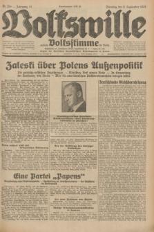 Volkswille : zugleich Volksstimme für Bielitz : Organ der Deutschen Sozialistischen Arbeitspartei in Polen. Jg.18, Nr. 204 (6 September 1932) + dod.