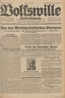 Volkswille : zugleich Volksstimme für Bielitz : Organ der Deutschen Sozialistischen Arbeitspartei in Polen. Jg.18, Nr. 205 (7 September 1932) + dod.