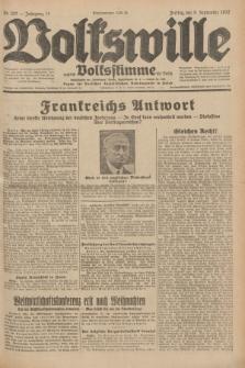 Volkswille : zugleich Volksstimme für Bielitz : Organ der Deutschen Sozialistischen Arbeitspartei in Polen. Jg.18, Nr. 207 (9 September 1932) + dod.
