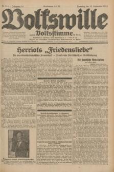 Volkswille : zugleich Volksstimme für Bielitz : Organ der Deutschen Sozialistischen Arbeitspartei in Polen. Jg.18, Nr. 210 (13 September 1932) + dod.