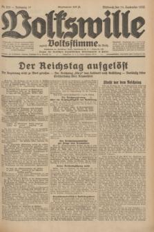 Volkswille : zugleich Volksstimme für Bielitz : Organ der Deutschen Sozialistischen Arbeitspartei in Polen. Jg.18, Nr. 211 (14 September 1932) + dod.