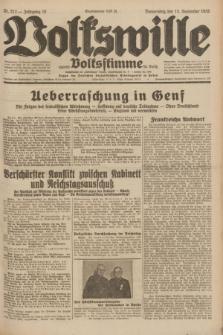 Volkswille : zugleich Volksstimme für Bielitz : Organ der Deutschen Sozialistischen Arbeitspartei in Polen. Jg.18, Nr. 212 (15 September 1932) + dod.