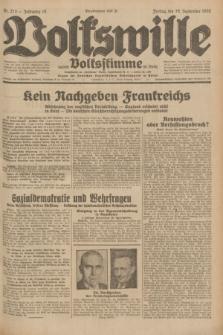 Volkswille : zugleich Volksstimme für Bielitz : Organ der Deutschen Sozialistischen Arbeitspartei in Polen. Jg.18, Nr. 213 (16 September 1932) + dod.