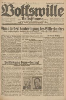 Volkswille : zugleich Volksstimme für Bielitz : Organ der Deutschen Sozialistischen Arbeitspartei in Polen. Jg.18, Nr. 215 (18 September 1932) + dod.