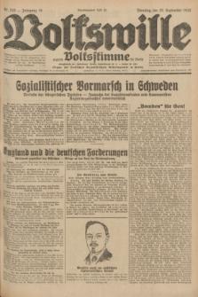Volkswille : zugleich Volksstimme für Bielitz : Organ der Deutschen Sozialistischen Arbeitspartei in Polen. Jg.18, Nr. 216 (20 September 1932) + dod.