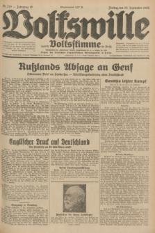 Volkswille : zugleich Volksstimme für Bielitz : Organ der Deutschen Sozialistischen Arbeitspartei in Polen. Jg.18, Nr. 219 (23 September 1932) + dod.