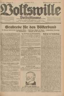 Volkswille : zugleich Volksstimme für Bielitz : Organ der Deutschen Sozialistischen Arbeitspartei in Polen. Jg.18, Nr. 223 (28 September 1932) + dod.