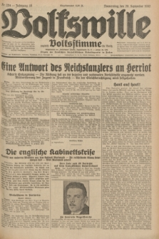 Volkswille : zugleich Volksstimme für Bielitz : Organ der Deutschen Sozialistischen Arbeitspartei in Polen. Jg.18, Nr. 224 (29 September 1932) + dod.