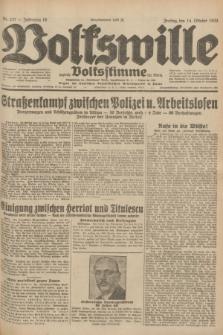 Volkswille : zugleich Volksstimme für Bielitz : Organ der Deutschen Sozialistischen Arbeitspartei in Polen. Jg.18, Nr. 237 (14 Oktober 1932) + dod.