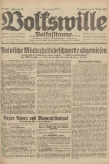Volkswille : zugleich Volksstimme für Bielitz : Organ der Deutschen Sozialistischen Arbeitspartei in Polen. Jg.18, Nr. 238 (15 Oktober 1932) + dod.