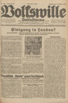 Volkswille : zugleich Volksstimme für Bielitz : Organ der Deutschen Sozialistischen Arbeitspartei in Polen. Jg.18, Nr. 239 (16 Oktober 1932) + dod.