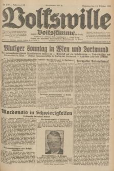 Volkswille : zugleich Volksstimme für Bielitz : Organ der Deutschen Sozialistischen Arbeitspartei in Polen. Jg.18, Nr. 240 (18 Oktober 1932) + dod.