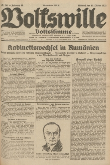 Volkswille : zugleich Volksstimme für Bielitz : Organ der Deutschen Sozialistischen Arbeitspartei in Polen. Jg.18, Nr. 241 (19 Oktober 1932) + dod.