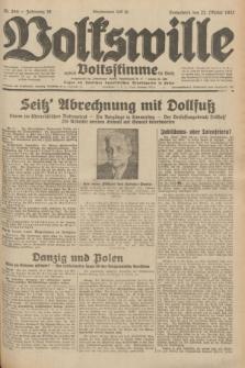 Volkswille : zugleich Volksstimme für Bielitz : Organ der Deutschen Sozialistischen Arbeitspartei in Polen. Jg.18, Nr. 244 (22 Oktober 1932) + dod.