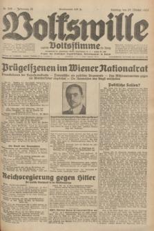 Volkswille : zugleich Volksstimme für Bielitz : Organ der Deutschen Sozialistischen Arbeitspartei in Polen. Jg.18, Nr. 245 (23 Oktober 1932) + dod.