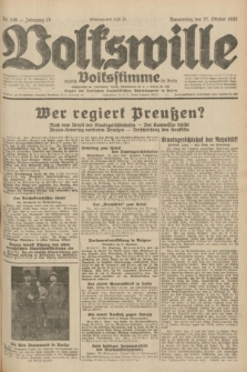 Volkswille : zugleich Volksstimme für Bielitz : Organ der Deutschen Sozialistischen Arbeitspartei in Polen. Jg.18, Nr. 248 (27 Oktober 1932) + dod.