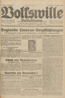 Volkswille : zugleich Volksstimme für Bielitz : Organ der Deutschen Sozialistischen Arbeitspartei in Polen. Jg.18, Nr. 249 (28 Oktober 1932) + dod.
