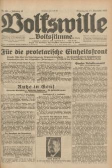 Volkswille : zugleich Volksstimme für Bielitz : Organ der Deutschen Sozialistischen Arbeitspartei in Polen. Jg.18, Nr. 263 (15 November 1932) + dod.