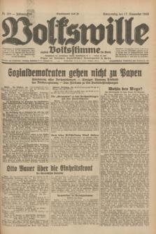 Volkswille : zugleich Volksstimme für Bielitz : Organ der Deutschen Sozialistischen Arbeitspartei in Polen. Jg.18, Nr. 265 (17 November 1932) + dod.