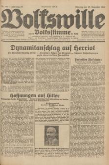 Volkswille : zugleich Volksstimme für Bielitz : Organ der Deutschen Sozialistischen Arbeitspartei in Polen. Jg.18, Nr. 269 (22 November 1932) + dod.